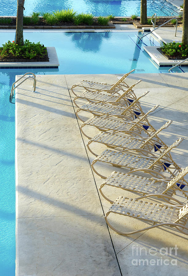 Swimming Pool And Lounge Chairs
