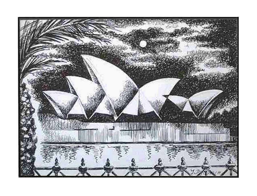 Australia Drawing - Sydney Opera House I by Yelena Revis
