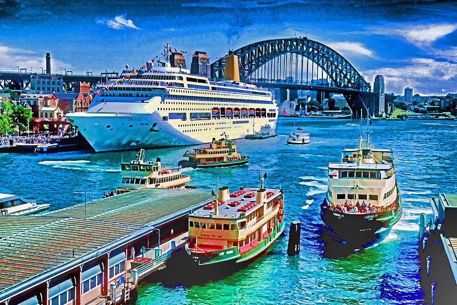 Australia Photograph - Sydney Quay by Dennis Cox