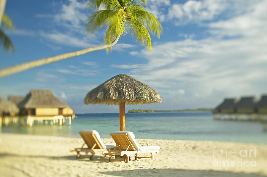 Beach Photograph - Tahiti, Bora Bora by Kyle Rothenborg - Printscapes