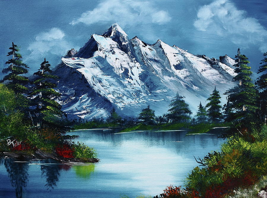 Bob Ross Painting Take A Breath By Barbara Teller
