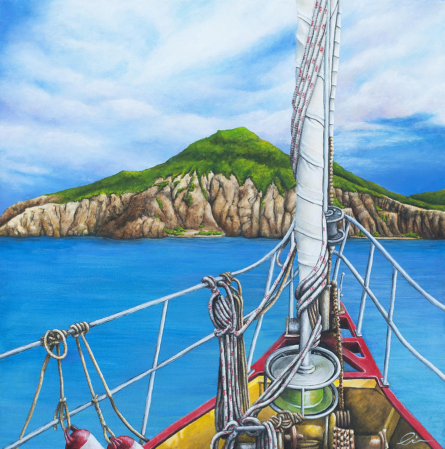 Sint Maarten Painting - Take Me To Saba by Cindy D Chinn