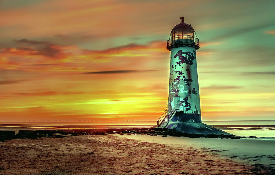 Light Photograph - Talacre Lighthouse - Wales by Adrian Sava