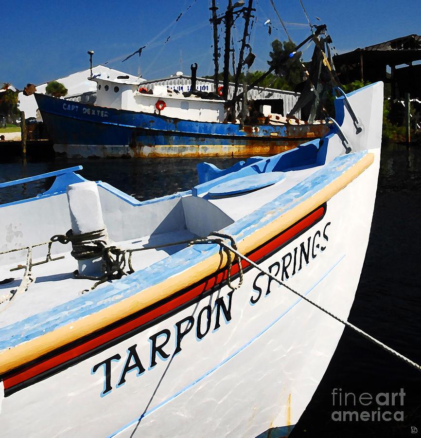 Tarpon Springs Florida Painting - Tarpon Springs by David Lee Thompson