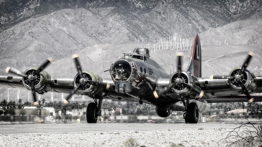 B-17 Bomber Photograph - B-17 Bomber Madras Maiden  by Sandra Selle Rodriguez