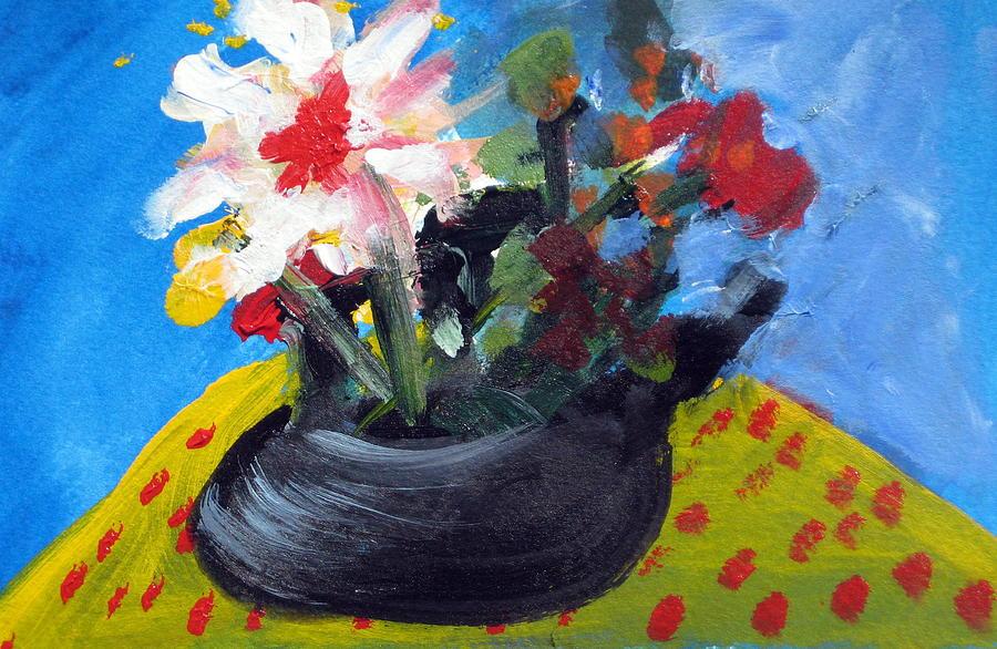 Teapot Painting - Tea Series B by Rebecca Merola