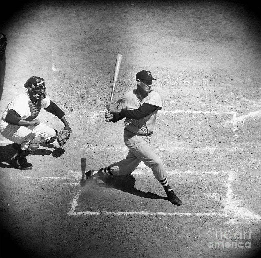 1957 Photograph - Ted Williams (1918-2002) by Granger