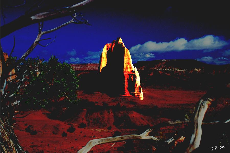 Capitol Reef Photograph - Temple Of The Moon 2 by John Foote