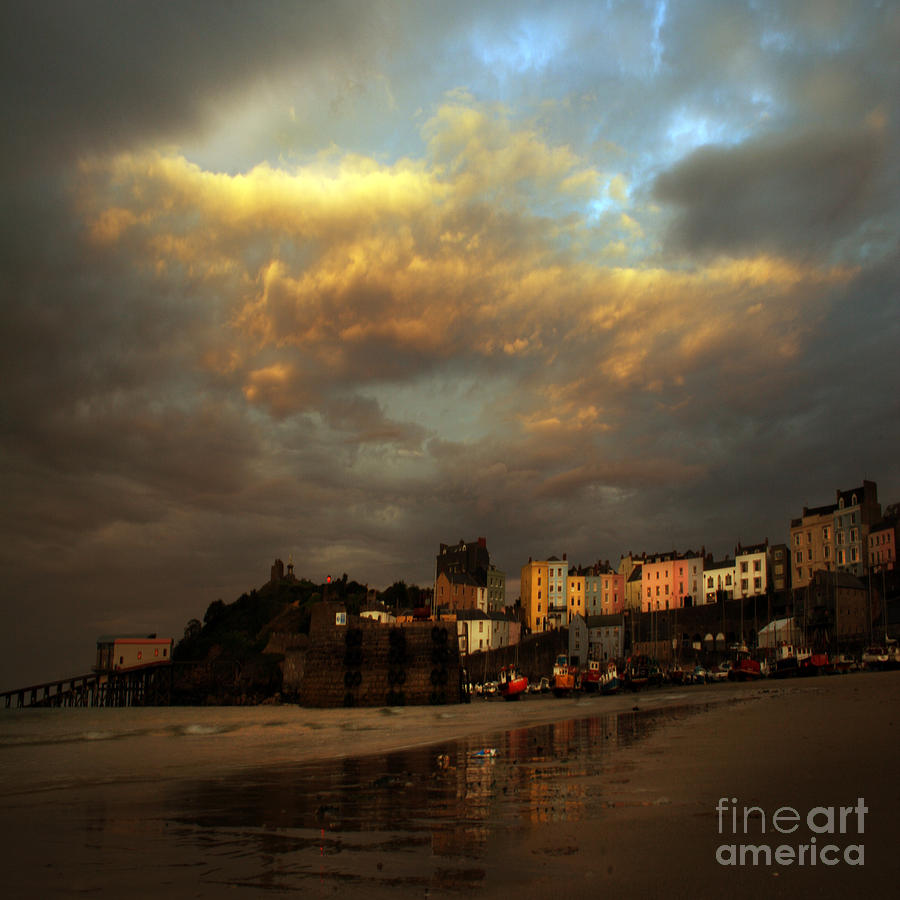 Tenby Photograph - Tenby by Angel Ciesniarska
