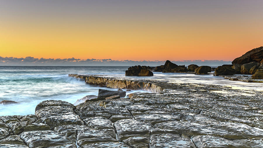 Australia Photograph - Tessellated Rock Platform And Seascape by Merrillie Redden
