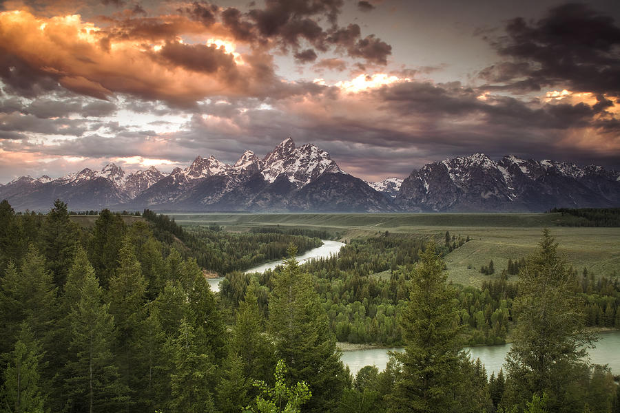 Grand Teton Photograph - Teton Drama by Andrew Soundarajan