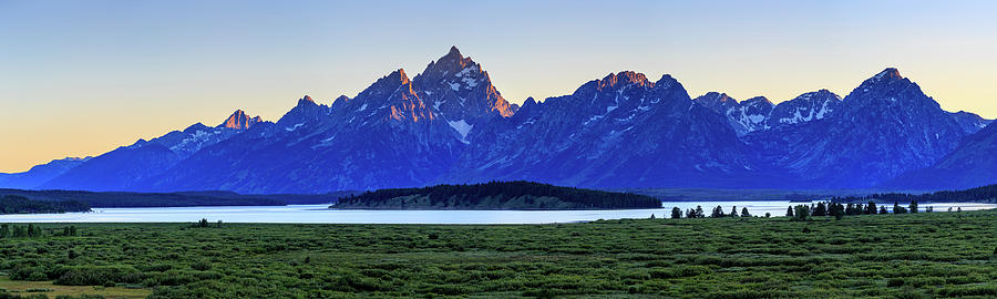 Teton sunset by David Chandler