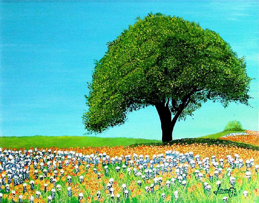 Texas Painting - Texas Hill Country by JoeRay Kelley