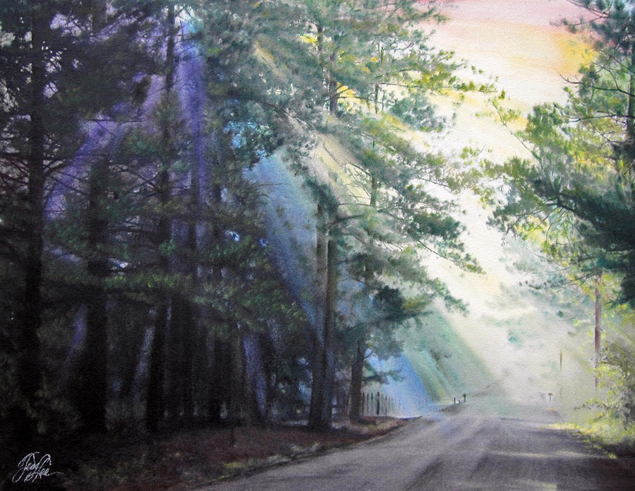 Landscape Pastel - Texas Morning by Tess Lee