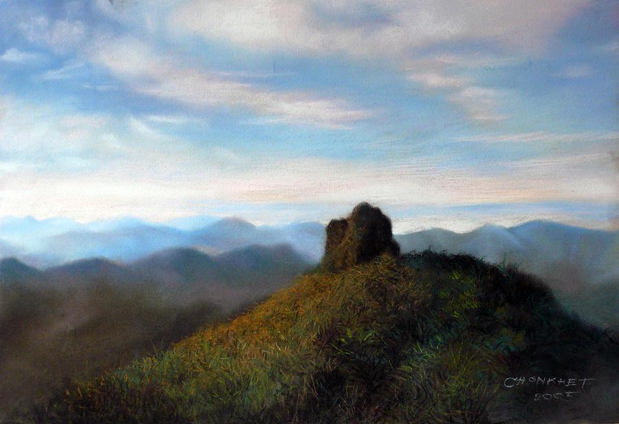 Thai Painting - Thai Landscape by Chonkhet Phanwichien