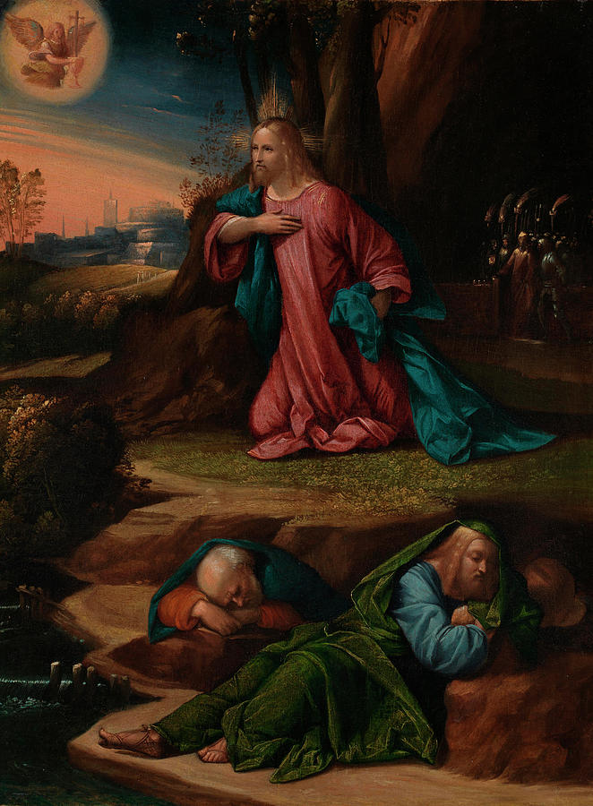 Clothing Painting - The Agony in the Garden by Garofalo
