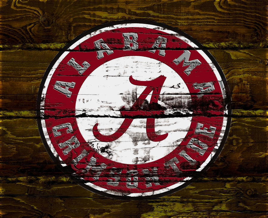 Wood Mixed Media - The Alabama Crimson Tide by Brian Reaves