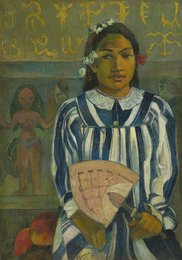 Female Painting - The Ancestors Of Tehamana by Paul Gauguin