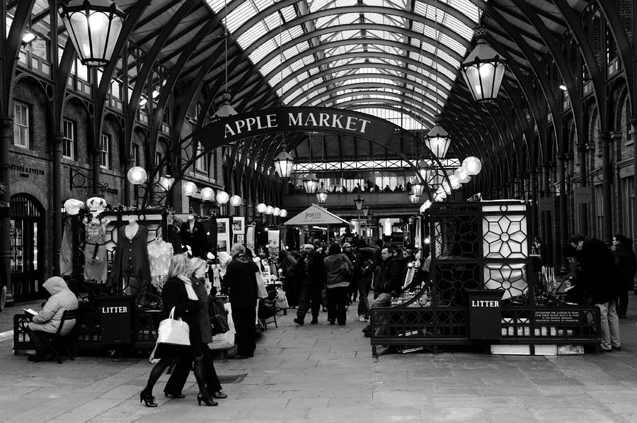 The Photograph - The  Apple Market In Covent Garden by Liz Pinchen