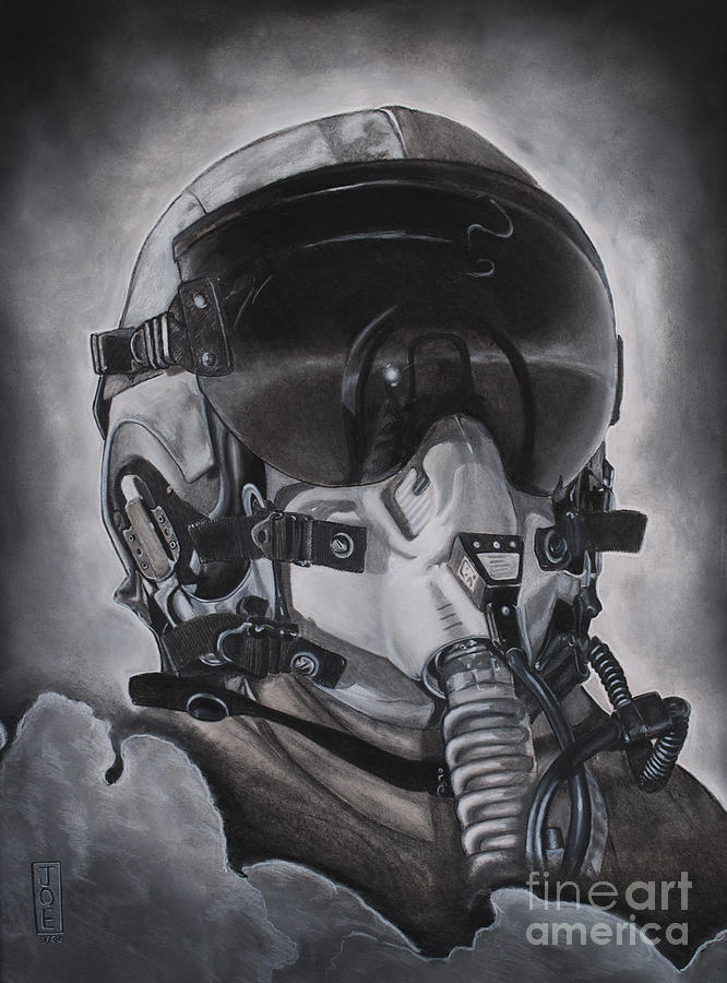 Pilot Drawing - The Aviator by Joe Dragt