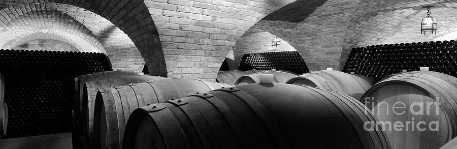 Wine Photograph - The Barrel Room by Jon Neidert