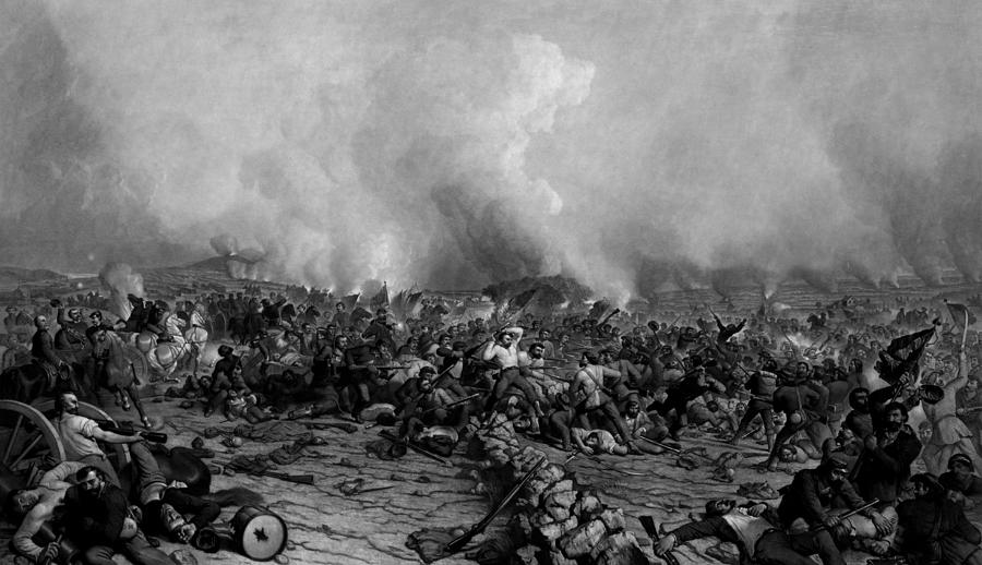 Gettysburg Drawing - The Battle Of Gettysburg by War Is Hell Store