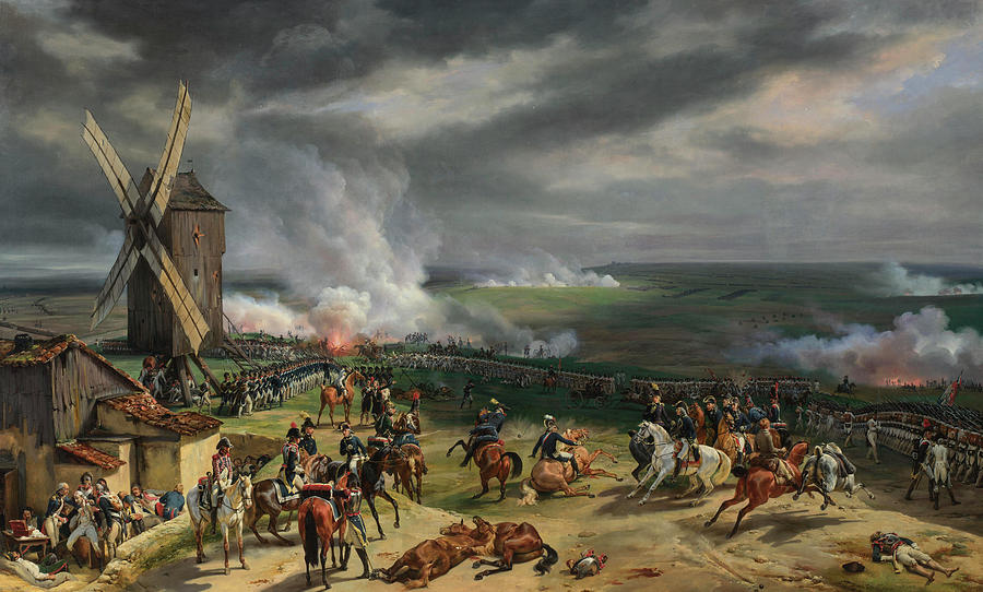Revolutionary Painting - The Battle Of Valmy by Emile-Jean-Horace Vernet