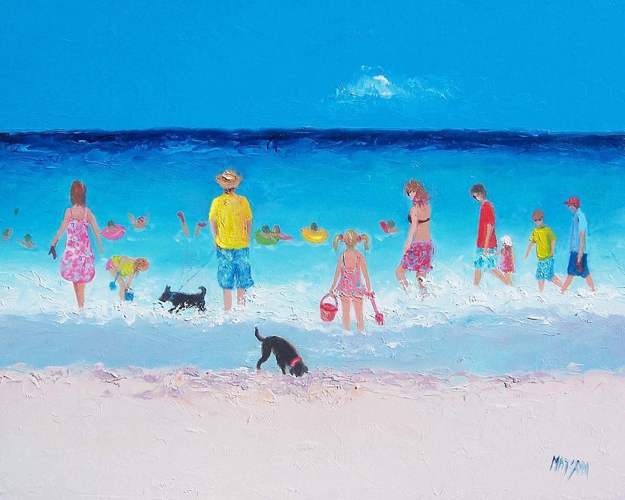 Beach Painting - The Beach Parade by Jan Matson