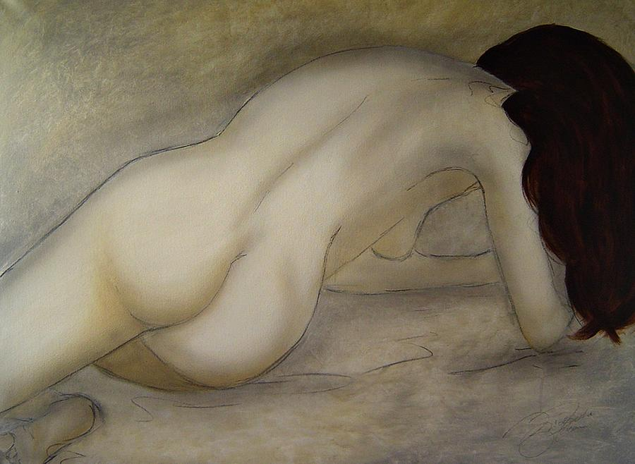 Nude Painting - The Beauty Of Quiet by Bridgette  Allan