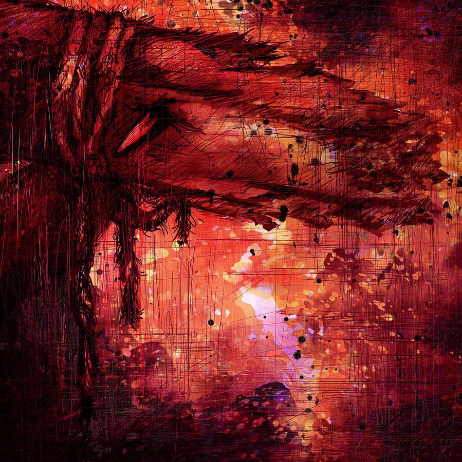 Abstract Digital Art - The Beloved by Rachel Christine Nowicki