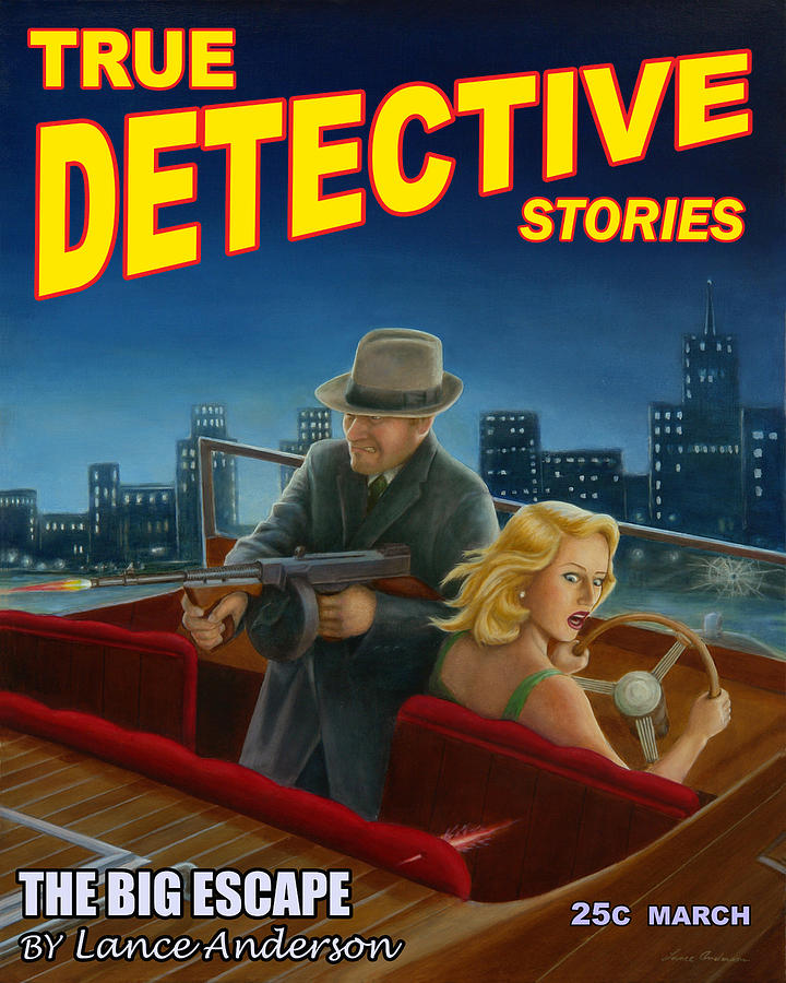 Detective Print - The Big Escape by Lance Anderson