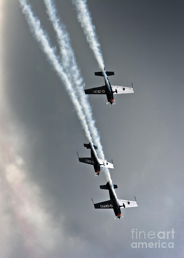 Airshow Photograph - The Blades Extra 300 by Angel Ciesniarska
