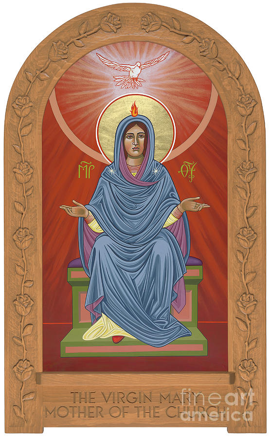 The Blessed Virgin Mary Mother of the Church by William Hart McNichols
