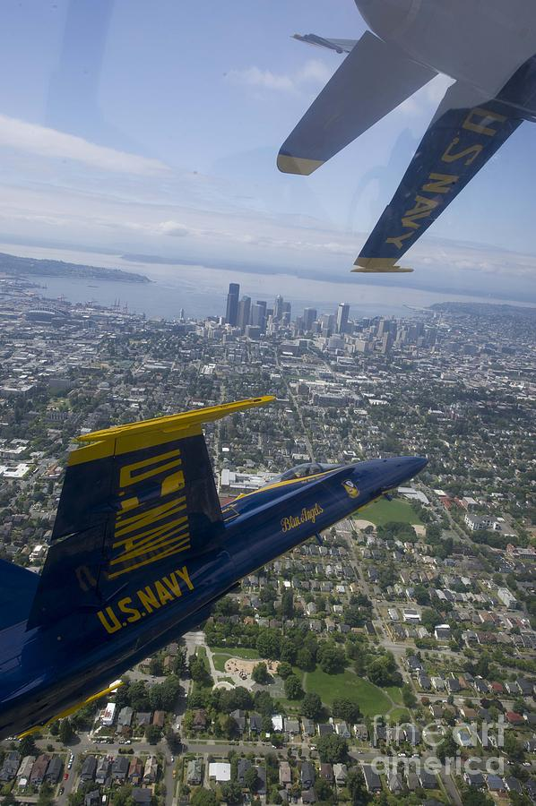 The Blue Angels Over Seattle Painting