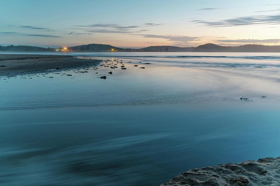 Umina Beach Photograph - The Blues - Daybreak Seascape by Merrillie Redden
