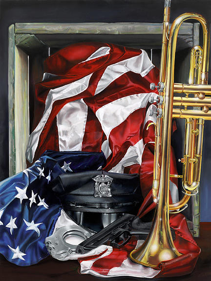 Police Painting - The Blues by John Kiernan
