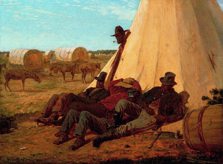 The Bright Side Painting - The Bright Side by Winslow Homer