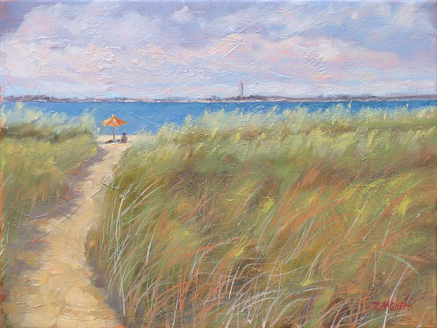 New England Painting - The Cape by Laura Lee Zanghetti