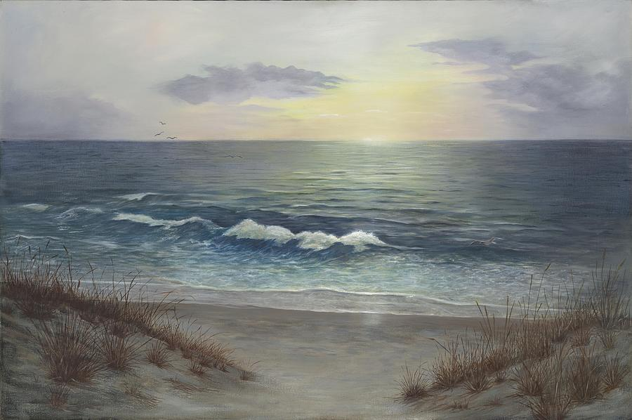 Seascape Painting - The Chaos Beneath by Jean LeBaron