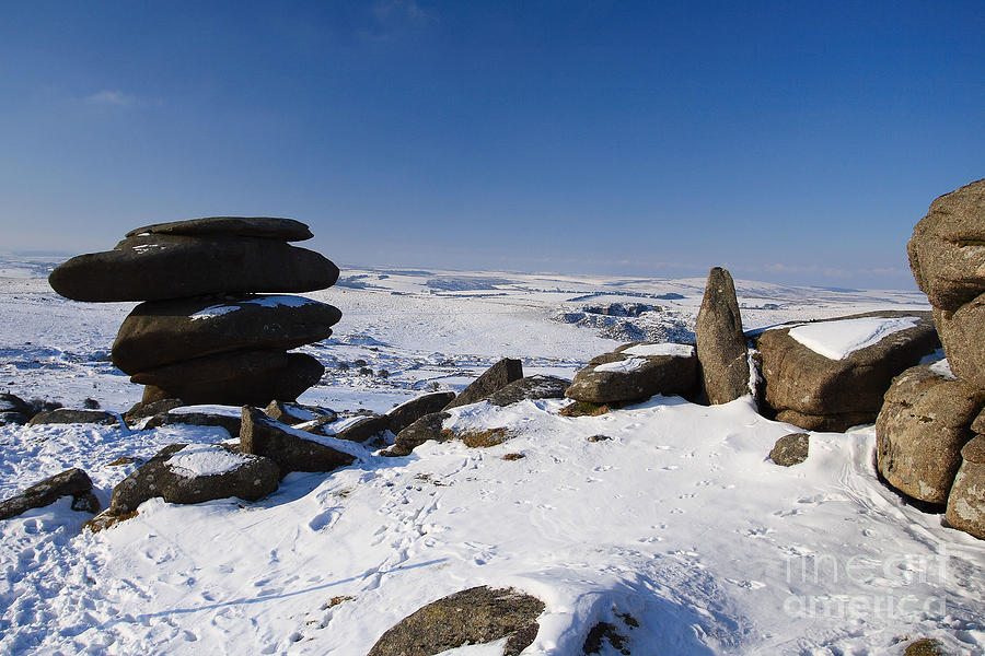 Bodmin Moor Photograph - The Cheesewrings by Carl Whitfield