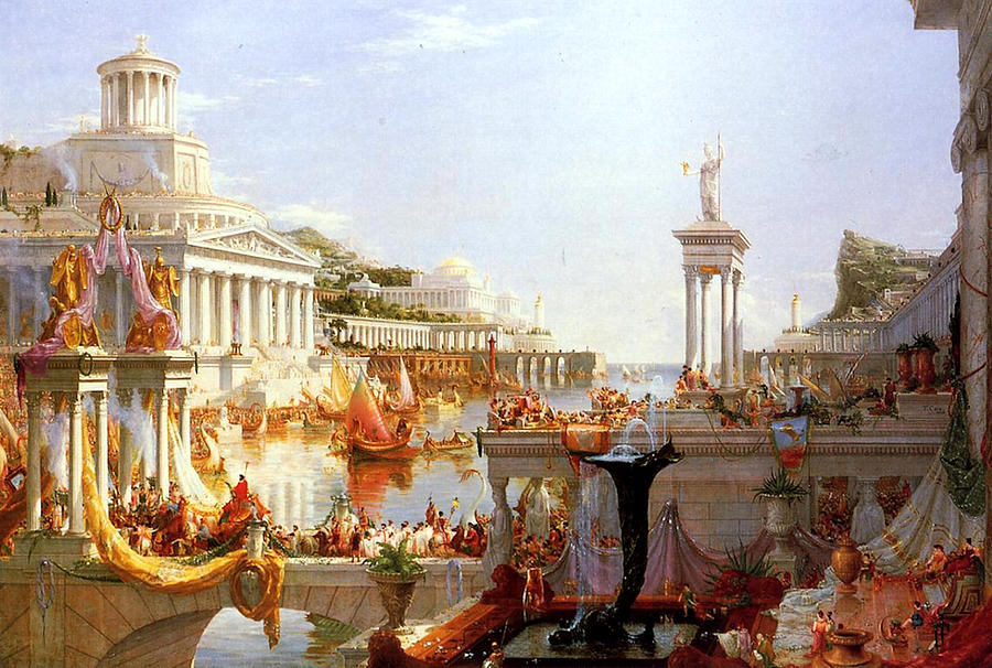 The Course Of Empire Consummation by Thomas Cole