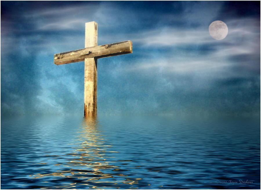 Cross Photograph - The Cross by Joyce Dickens
