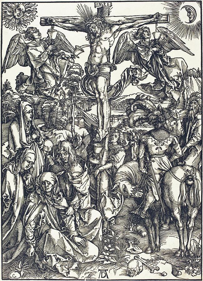 Durer Drawing - The Crucifixion by Albrecht Durer