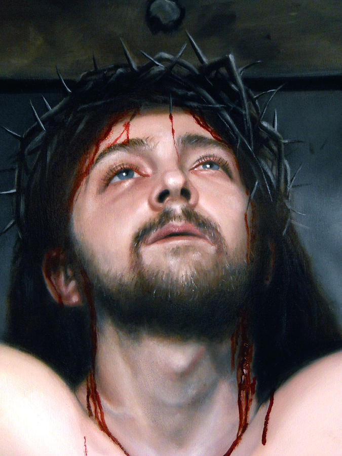 The Crucifixion  Painting by Eric  Armusik