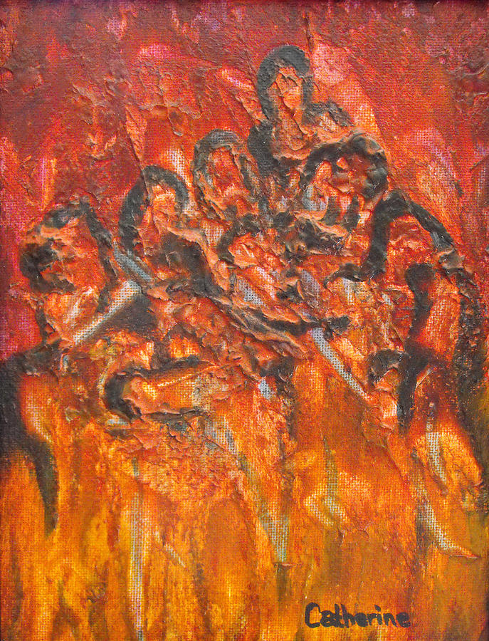 Hades Painting - The Damned by Catherine Sprague
