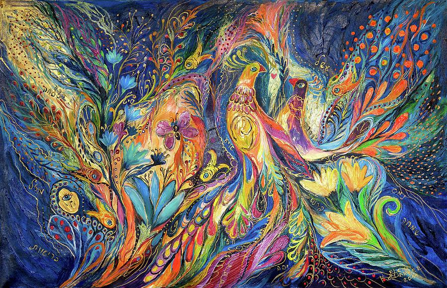 Original Painting - The Dance Of Oranges by Elena Kotliarker