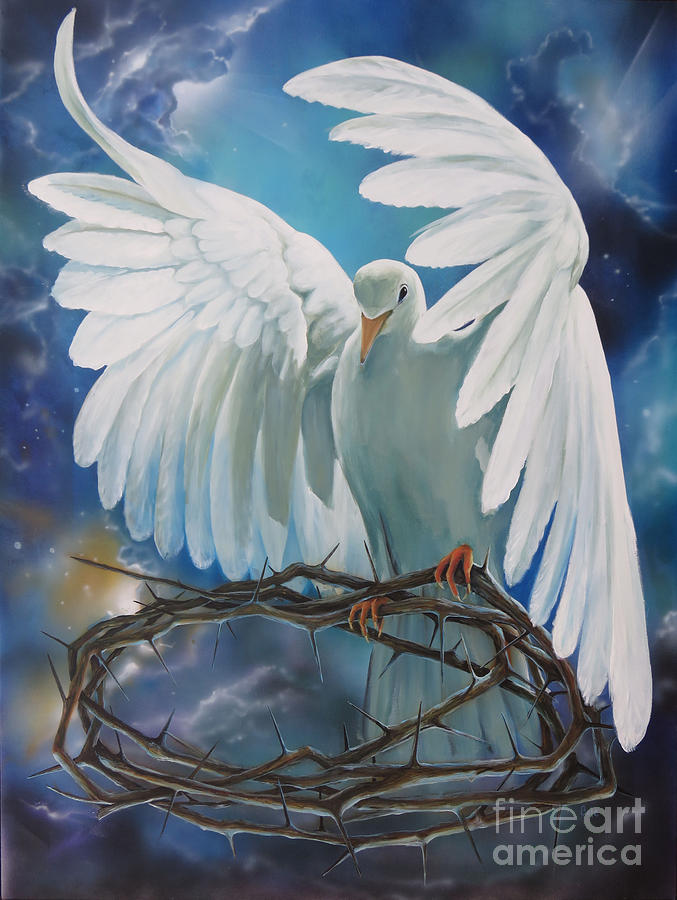 Dove Painting - The Dove by Larry Cole