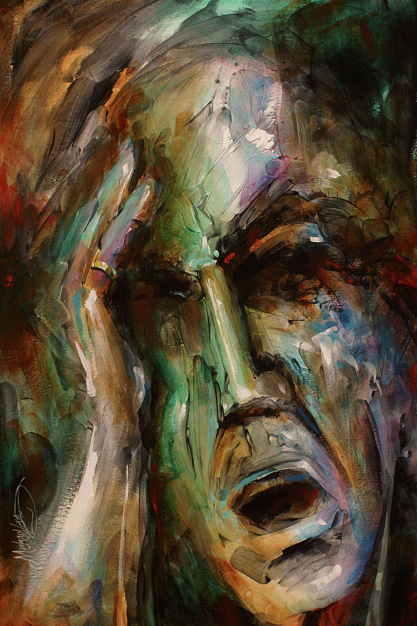 Portrait Painting - The Edge by Michael Lang