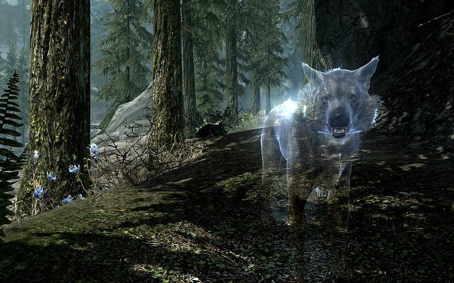 Rhinoceros Digital Art - The Elder Scrolls V Skyrim by Dorothy Binder