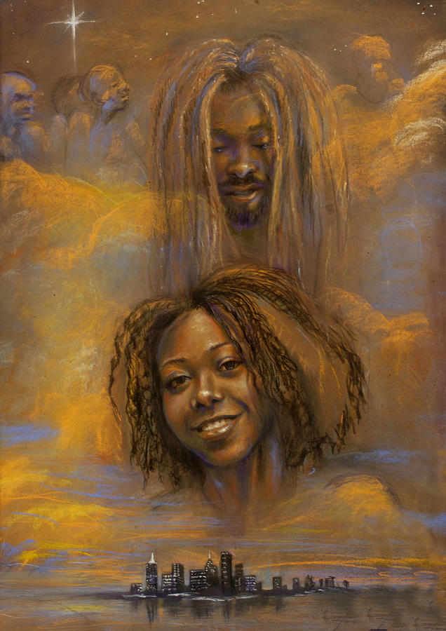 Pastels Pastel - The Faces Of God by Gary Williams